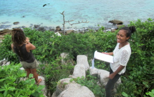 Acampamento de preservação em Seychelles