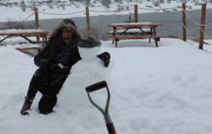 Banho de neve na Serra da Estrela